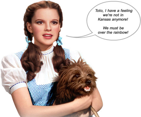 Judy Garland as Dorothy with Toto