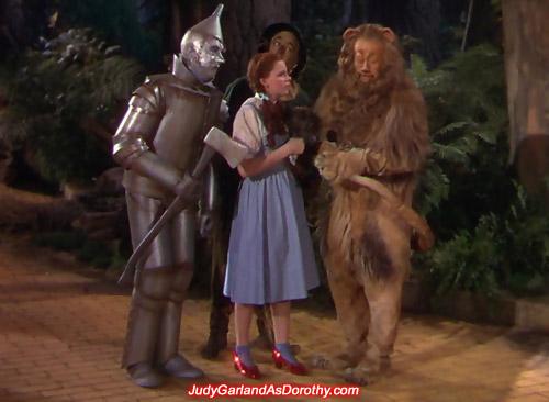 Judy Garland as Dorothy and the three amigos
