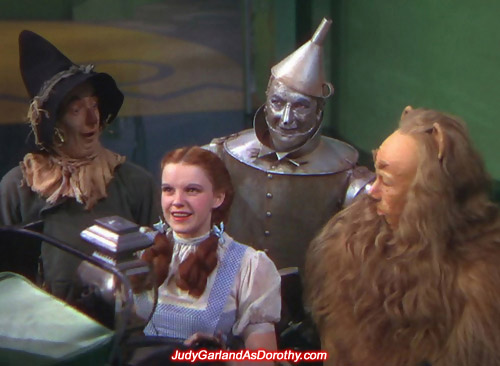 Judy Garland as Dorothy arrives at the Emerald City