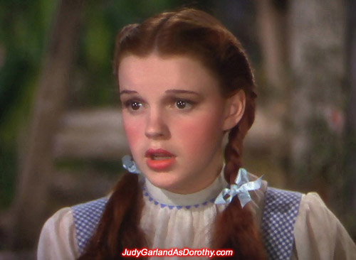 Hollywood heavyweight Judy Garland as Dorothy dazzled on the Yellow Brick Road