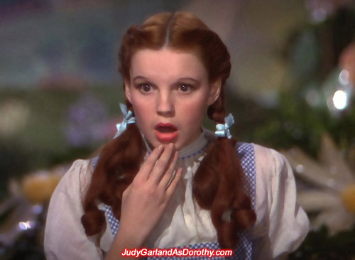Judy Garland as Dorothy discovers strange, weird, and wonderful things