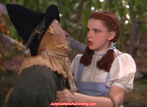 Judy Garland as Dorothy had a knack for giving off positive energy to her friends