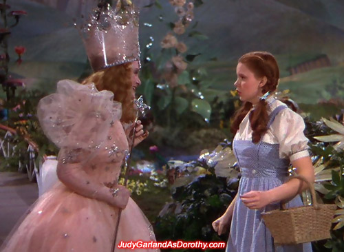 Judy Garland as Dorothy has never heard of a beautiful witch before