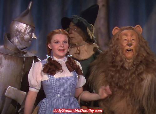 Judy Garland as Dorothy is excited to see the Emerald City
