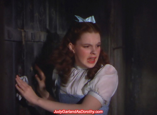 Attractive Judy Garland as Dorothy is locked up in the Witch's Castle