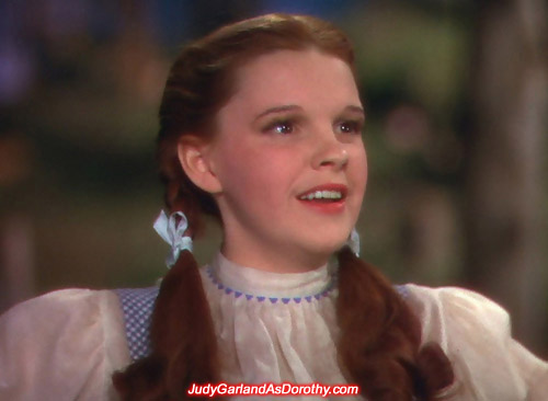 Judy Garland as Dorothy shows her cute side on MGM's The Wizard of Oz