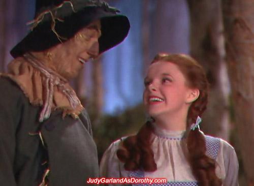 Pretty Judy Garland as Dorothy enjoying her adventure in Oz